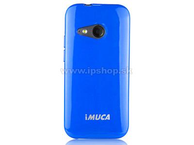 Luxusní ochranný kryt (obal) modrý Metallic Color TPU na HTC One mini 2 + fólie zdarma + stylus