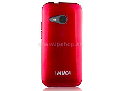 Luxusní ochranný kryt (obal) bordový Metallic Color TPU na HTC One mini 2 + fólie zdarma + stylus