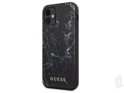 Guess Fashion Marble Cover – Luxusný kryt na iPhone 12 mini (čierny)