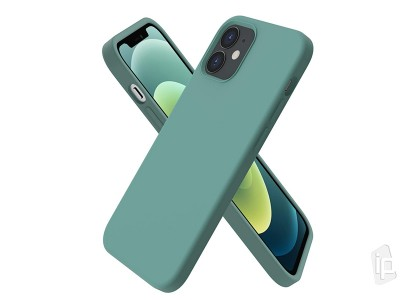 Liquid Silicone Cover (zelený) - Ochranný obal na iPhone 12 / iPhone 12 Pro
