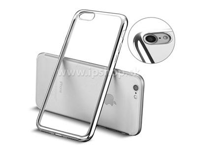 "Ochranný kryt (obal) Clear TPU Bumper Silver (stříbrný) na Apple iPhone 7 (4.7"")"