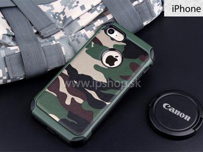 Camo Series Green - odolný outdoorový ochranný kryt zelený na Apple iPhone 7