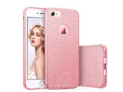 Ochranný glitrovaný kryt (obal) TPU Glitter Pink (růžový) pro Apple iPhone 7 + fólie na displej