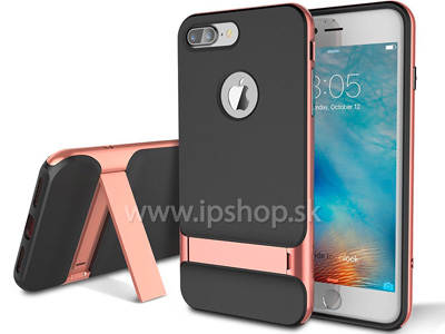 Luxusný ochranný kryt (obal) Rock Royce TPU with Kickstand Rose Gold (ružový) na Apple iPhone 7 Plus