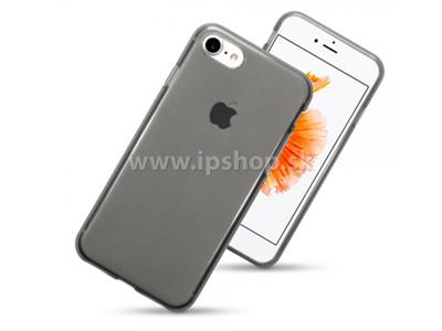 Ochranný gelový/gumový kryt (obal) Smokey Black (šedý) na Apple iPhone 7