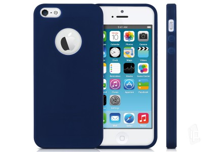 Slim Frosted Cover (tmavomodrý) - Ochranný obal na Apple iPhone 5S   iPhone  SE 21ff4e15a82