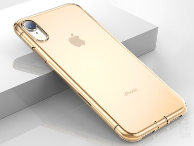 BASEUS Ultra Slim TPU Gold (zlat�) - Ochrann� kryt (obal) na Apple iPhone XR