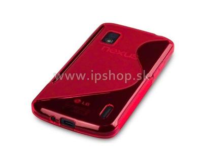 Ochranný gelový/gumový kryt (obal) LG Google Nexus 4 E960 Red Wave