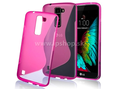 Ochranný gelový/gumový kryt (obal) Pink Wave (růžový) na LG K10 (K420N) + fólie na displej