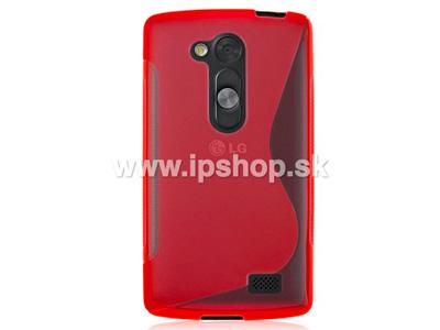 Ochranný gelový/gumový kryt (obal) Red Wave (červený) na LG D290n L Fino / LG D295n L Fino Dual SIM