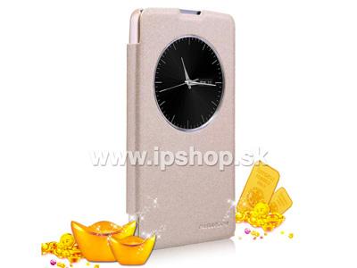 Window Side Flip pouzdro pro LG D290n L Fino / LG D295n L Fino Dual SIM zlaté **AKCE!!