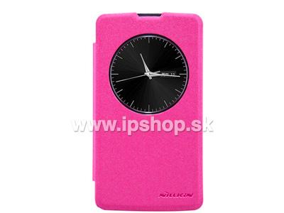 Window Side Flip pouzdro pro LG D290n L Fino / LG D295n L Fino Dual SIM růžové **AKCE!!