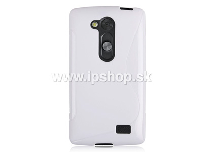 Ochranný gelový/gumový kryt (obal) White Wave (bílý) na LG D290n L Fino / LG D295n L Fino Dual SIM