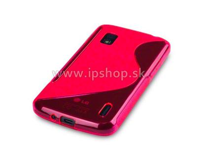 Ochranný gelový/gumový kryt (obal) LG Google Nexus 4 E960 Pink Wave (růžový) **DOPRODEJ
