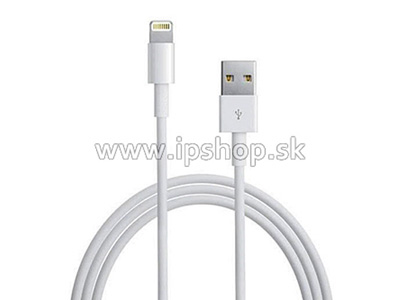 2 metrový Lightning USB data kábel pre Apple iPhone, iPad Mini a iPad Air biely