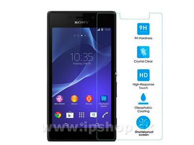 Temperované - tvrzené sklo - ochranná fólie na displej pro Sony Xperia M2 / M2 Aqua