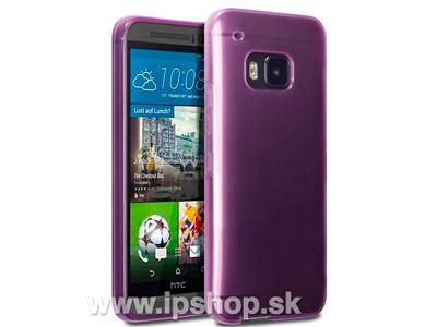 Ochranný gelový/gumový kryt (obal) na HTC One M9 fialový + fólie na displej