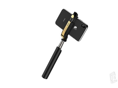HOCO K12 Wireless Selfie Stick (čierny) - Bluetooth selfie tyč - 75 cm