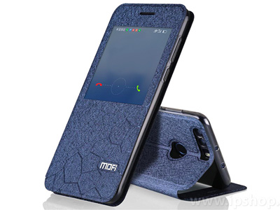 Active Window Side Flip puzdro Honeycomb Pattern Blue (modré) pre Honor 8