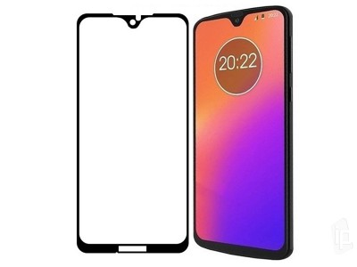 2.5D Full Glue Tempered Glass (čierne) - Tvrdené sklo na displej na Moto G7 Plus