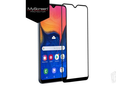 MyScreen Lite Glass Edge Full Glue (čierne) - 2.5D Tvrdené sklo na displej na Samsung Galaxy A10