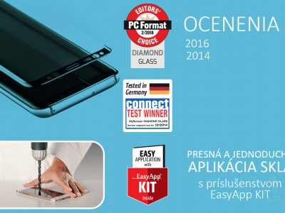 MyScreen Full Glue Tempered Glass Black (čierne) - Tvrdené sklo na celý displej pre Huawei P Smart 2019 / Honor 10 Lite
