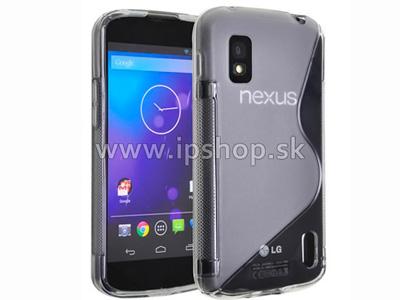 Ochranný gelový/gumový kryt (obal) LG Google Nexus 4 E960 Clear Wave (čirý)