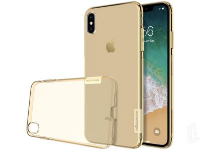 Nature TPU Clear (zlat�) - Ochrann� kryt (obal) na Apple iPhone XS Max