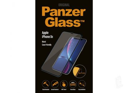 PanzerGlass Case Friendly Black (čierny) - Tvrdené ochranné sklo na displej na Apple iPhone XR / iPhone 11