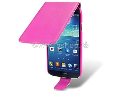 Flip pouzdro pro Samsung Galaxy S4 (i9500/i9506) Basic Line růžové + fólie na displej **AKCE!!