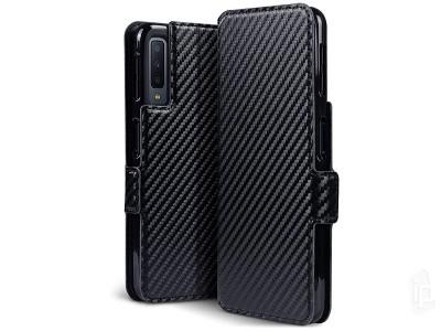 f2d2ba1f8 Carbon Fiber Folio (čierne) - Peňaženkové puzdro na Samsung Galaxy A7 2018