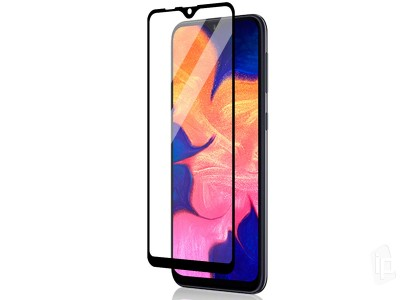 2.5D Full Glue Tempered Glass (čierne) - Tvrdené sklo na displej na Samsung Galaxy A10