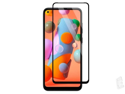 2.5D Full Glue Tempered Glass Black (čierne) - Tvrdené sklo na displej na Samsung Galaxy M11 / A11