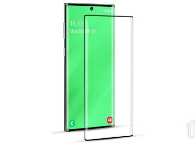 3D Full Glue Tempered Glass (čierne) - Temperované sklo na displej pre Samsung Galaxy Note 10 Plus