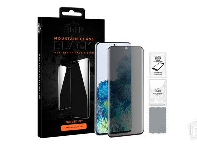 EIGER Mountain 3D Privacy Glass - Anti-Spy tvrdené sklo pre Samsung Galaxy S20
