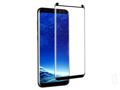 "3D Full Glue ""Case Friendly"" Tempered Glass (čierne) - Temperované sklo na displej pre Samsung Galaxy S8"