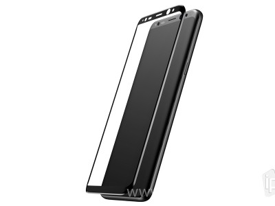 3D Full Glue Tempered Glass (čierne) - Tvrdené sklo na displej na Samsung Galaxy S8 Plus
