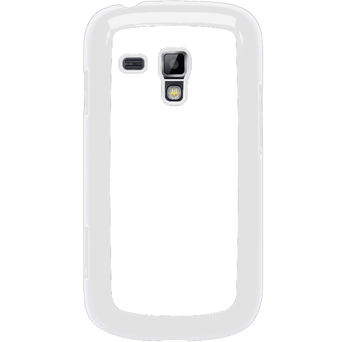 Kryt (obal) s potiskem (vlastní fotkou) s bílým okrajem pro Samsung Galaxy S Duos, Galaxy Trend a Trend Plus