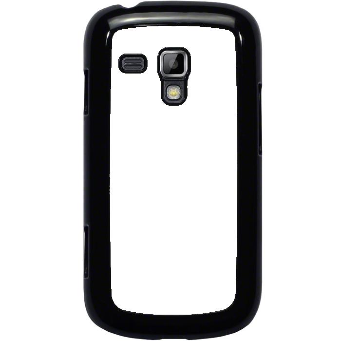 Kryt (obal) s potiskem (vlastní fotkou) s černým okrajem pro Samsung Galaxy S Duos, Galaxy Trend a Trend Plus