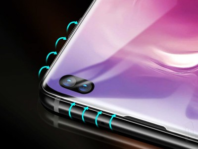 3D Full Glue Tempered Glass (čierne) - Tvrdené sklo na celý displej na Samsung Galaxy S10 Plus