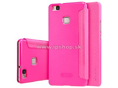 Luxusní Side Flip pouzdro pro HUAWEI P9 Lite růžové + fólie na displej
