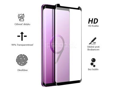 "3D Full Glue ""Case Friendly"" Tempered Glass (čierne) - Temperované sklo na displej pre Samsung Galaxy S9 **AKCIA!!"