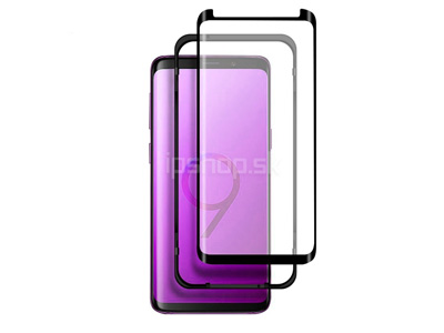 "3D Full Glue Glass ""Case Friendly"" Tempered Glass (čierne) - Temperované sklo na displej pre Samsung Galaxy S9"