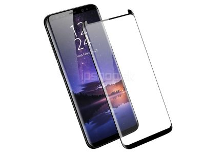 "3D Full Glue ""Case friendly"" Tempered Glass (čierne) - Temperované sklo na displej na Samsung Galaxy S9 Plus"