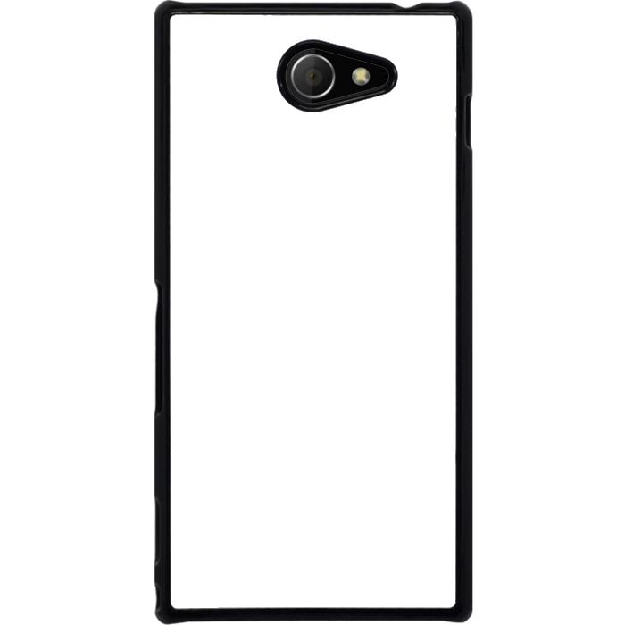 Kryt (obal) s potiskem (vlastní fotkou) s černým okrajem pro Sony Xperia M2 / M2 Aqua + fólie na displej