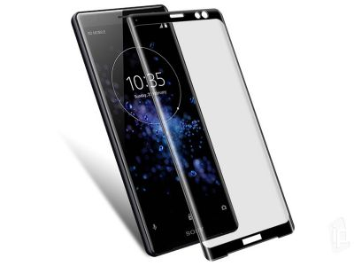 3D Tempered Glass Black (�ierne) - tvrden� sklo na displej pre Sony Xperia XZ3