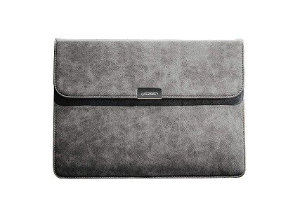 Ugreen Elegant Leather Folio Grey (šedé) – Elegantné puzdro na notebook alebo tablet s uhlopriečkou do 12,9""
